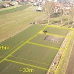 przykładowe zdjęcia lotnicze - granice i orientacyjne wymiary działek